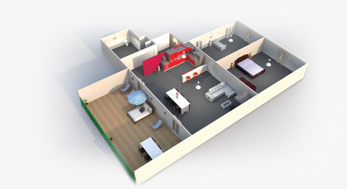 Efic vue 3d int rieur et ext rieur for Demo architecte 3d